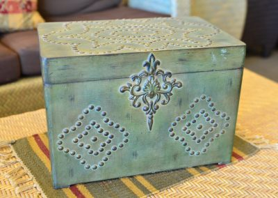 Metal trinket storage Box