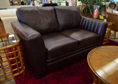 Loveseat Dark Brown Leather