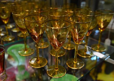 Amber and Gold Stemware